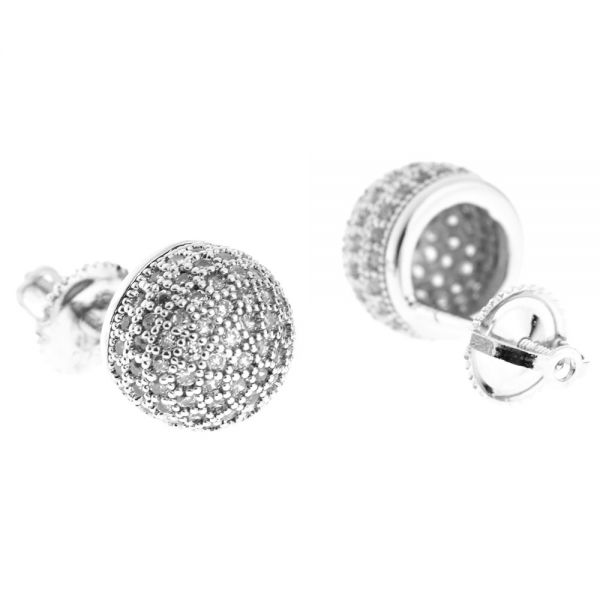 925er Silber MICRO PAVE Ohrstecker - GALAXY 9mm