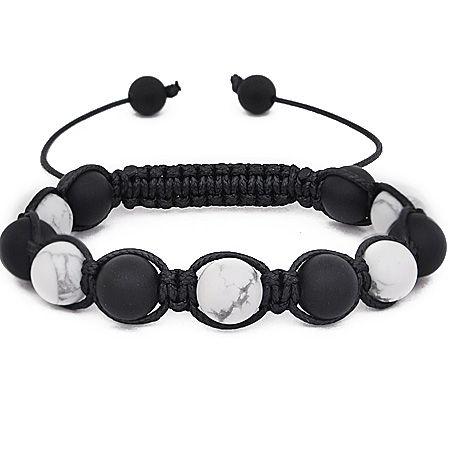 Unisex Marcrame Armband - WHITE STONE
