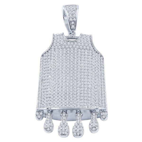 925 Sterling Silber Anhänger - DRIP BASKETBALL JERSEY