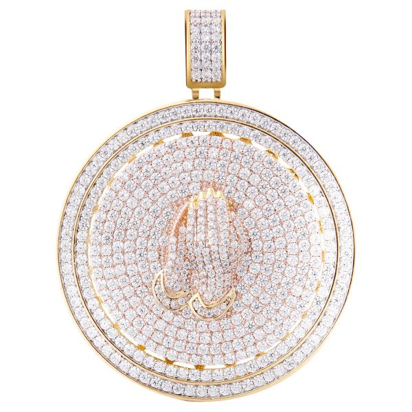 925 Sterling Silver Micro Pave Pendant - POISE CZ gold