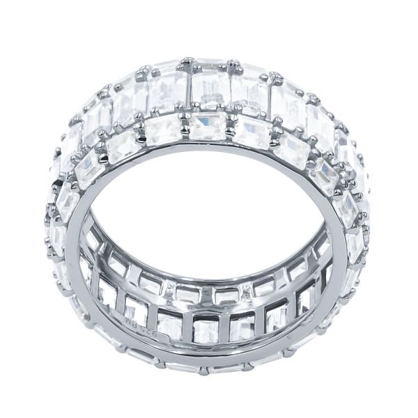 Sterling 925er Silber Micro Pave Ring - PRISMATIC