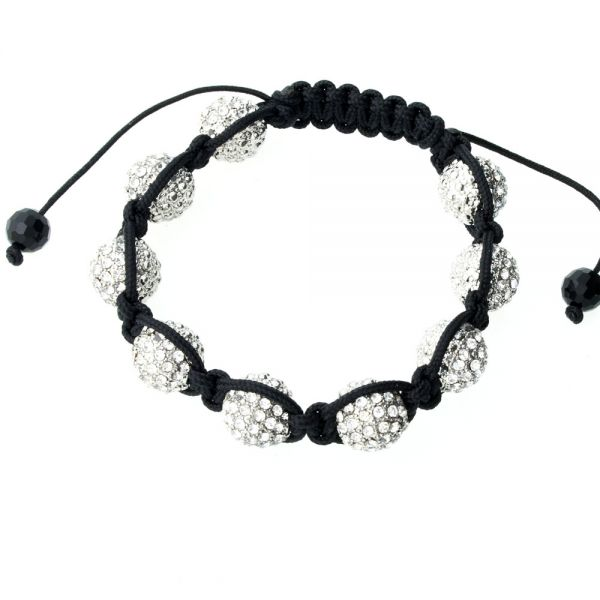 Iced Out Unisex Armband - Disco Ball NINE clear