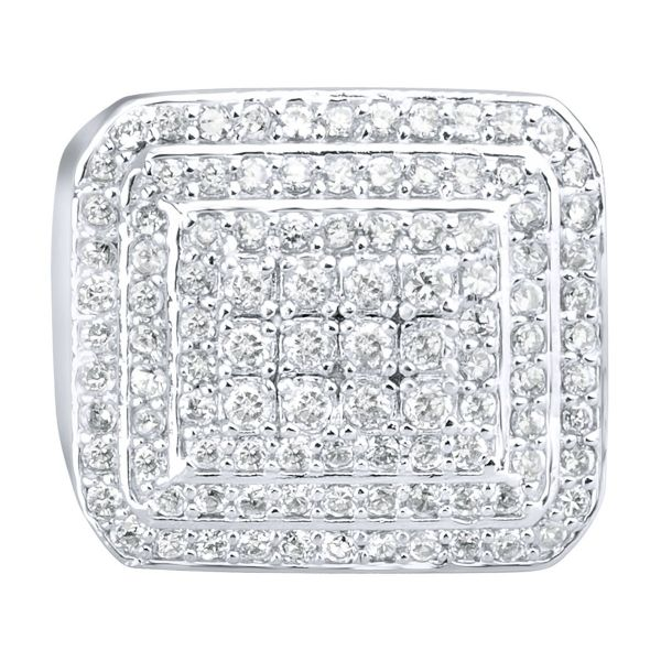 Sterling 925er Silber Pave Ring - DOME