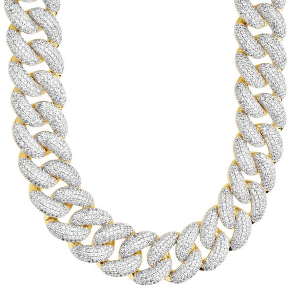 Iced Out Bling Zirconia Chain - Miami 2.0 Cuban 18mm