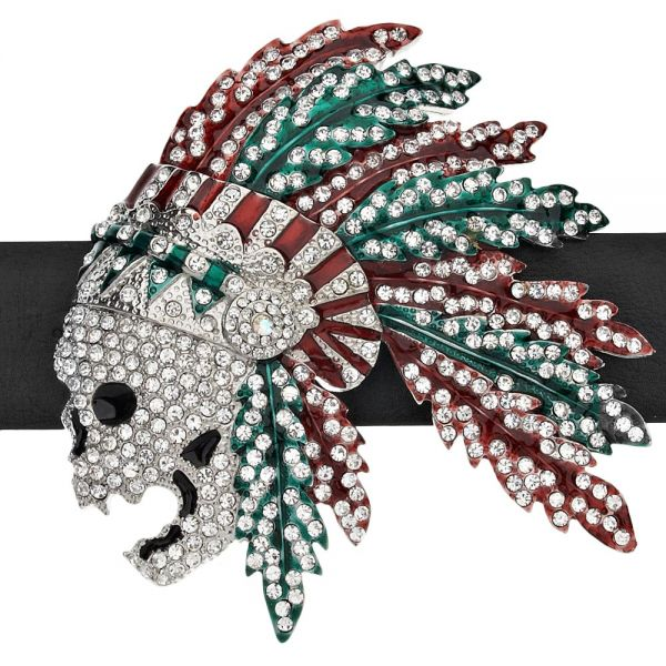Iced Out Bling Hip Hop Gürtel - FEATHER INDIAN