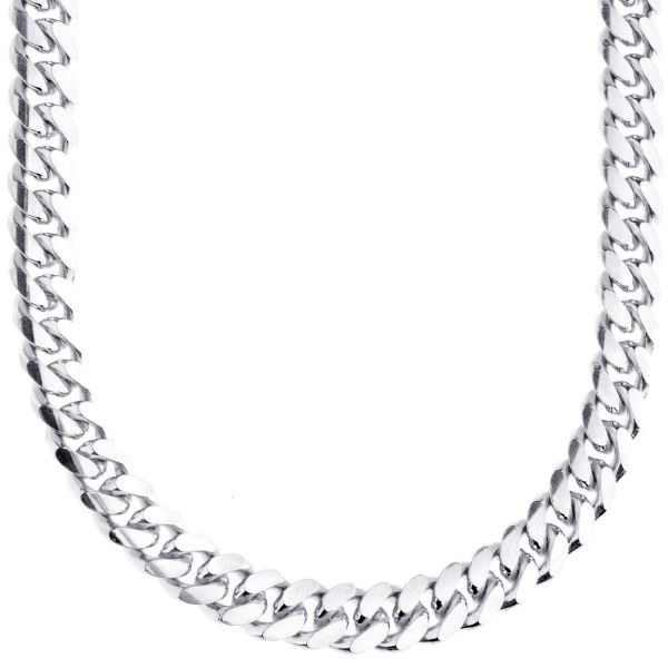 925 Sterling Silver Bling Chain - MIAMI CUBAN 8mm