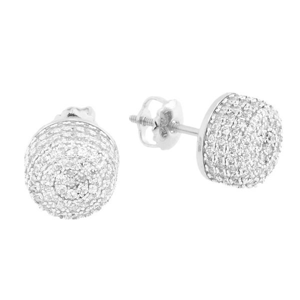 925 Sterling MICRO PAVE Ohrstecker - BUCKET 10mm