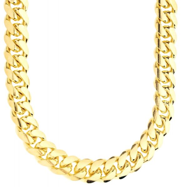 925 Sterling Silver Bling Chain - MIAMI CUBAN 12mm gold