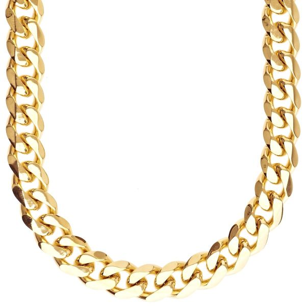 Iced Out Stainless Steel CURB Set - Chain & Bracelet gold