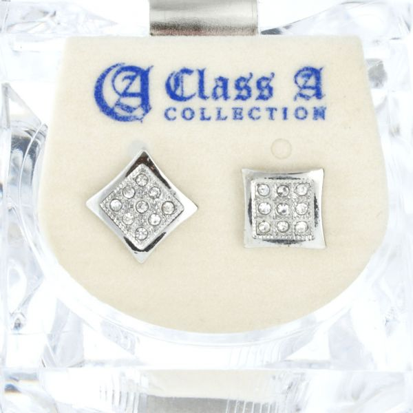 Iced Out Bling Ohrstecker Box - SHAPE 8mm