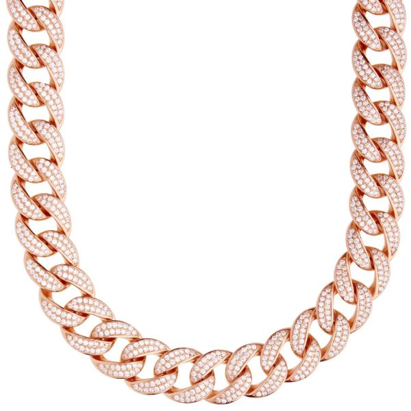 Premium Bling Sterling 925er Silber Miami Cuban Chain - 12mm